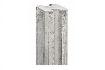 Betonnen hoekpaal sleufpaal wit/grijs