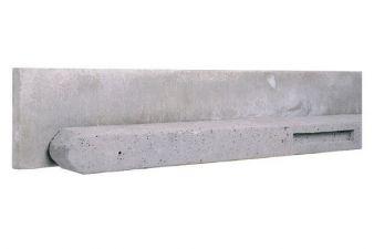 Hoekbetonpaal grijs 10x10x280 cm t.b.v. rechtschermen 170/180  cm hoog