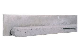 Betonpaal grijs 10x10x310 cm t.b.v. rechtschermen 180 cm hoog t.b.v. betonplaten