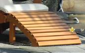 Bijpassend voetenbankje hardhouten relax stoel