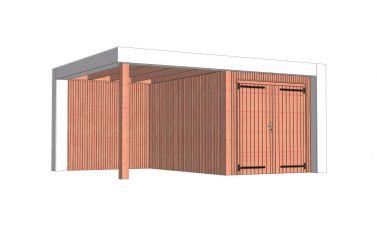 Buitenverblijf Verona 520x400 cm - Plat dak model rechts - combinatie 1