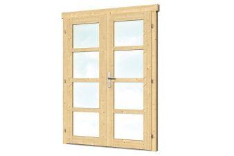 Dubbele deur D1 B159xH190 cm 28-45 mm