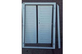 NR805 Dubbele deur RAL9010 128x185 cm exclusief beslag