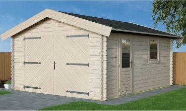 Woodpro Garage Jonas Zadeldak 500x400cm 44mm