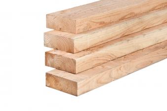 Lariks/Douglas ligger onbehandeld (vers hout) 10x20x500 cm