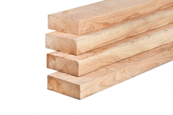 Lariks/Douglas ligger onbehandeld (vers hout) 7x20x400 cm