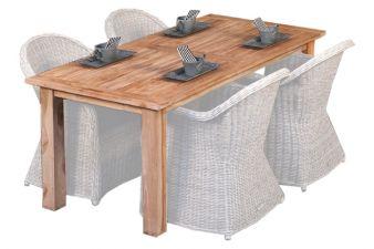 Teak dinner tafel Modern 250 | Tafel L250xB100xH80 cm