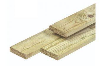 Noord-Zweeds timmerhout glad geschaafd 1,8x7x420 cm