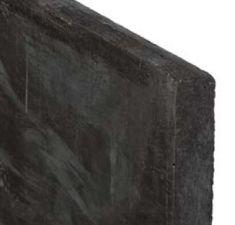Betonnen onderplaat 3.5x25x184cm 2-zijdig glad met afwateringsdakje antraciet