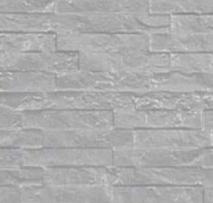 Betonnen onderplaat 2-zijdig leisteenmotief wit/grijs 4.8x36x180cm