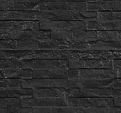 Betonnen onderplaat 2-zijdig leisteenmotief antraciet 4.8x26x184cm