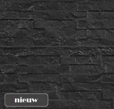 Onderplaten antraciet Leisteenmotief 4.8x36x184cm