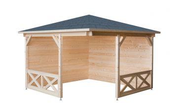 Hoekpaviljoen P3555 350x350 cm met piramidedak