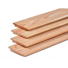 Lariks/Douglas potdekselplank onbehandeld 1,1-2,2x19,5x400 cm