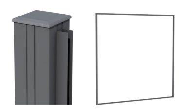 Aluminium profielenset antraciet 181,5x200 cm