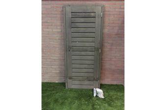 Enkele dichte deur grijs geïmpregneerd 90x205cm
