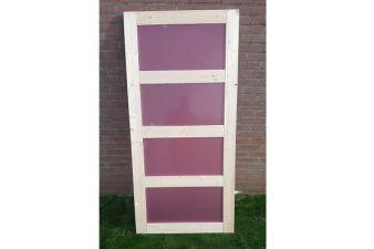 Enkele deur/paneel met plexiglas