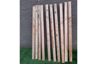 Afdeklat Lariks/Douglas piramide 180 cm - 10 stuks - SALE0380