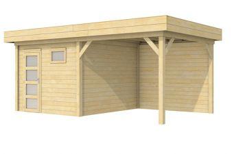 Moderne Blokhut Tapuit 300x300 cm + luifel 400 cm