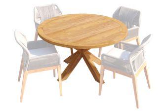 Ronde tafel met kruispoot