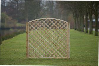 Trellis diagonaal met tooglijst H180xB180 cm