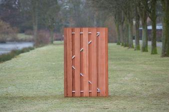 Tuindeur Privacy hardhout H195xB120 cm