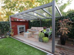 Profiline terrasoverkapping - vrijstaand - 400x350 cm - polycarbonaat dak