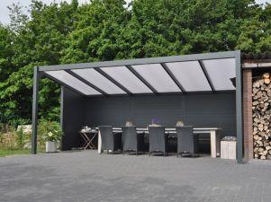 Profiline terrasoverkapping - vrijstaand - 600x250 cm - polycarbonaat dak