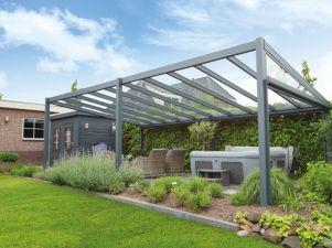 Profiline terrasoverkapping - vrijstaand - 700x250 cm - polycarbonaat dak