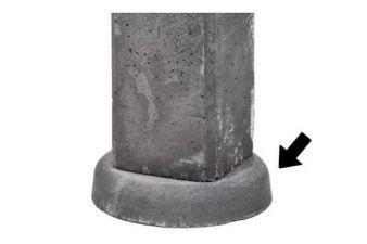 Wegzakpreventie voor betonpalen en betonpoer / poer 5cm dik x Ø 25cm