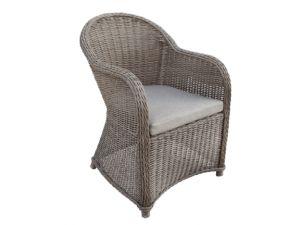 Wicker luxe stoel Davidson donkerbruin