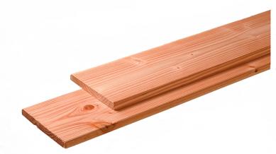 Geschaafde fijnbezaagde plank Douglas