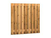 Plankenscherm grenen 180x180 cm - recht verticaal (08176)