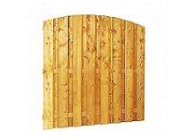 Plankenscherm grenen 180x180 cm - toog verticaal (08230)