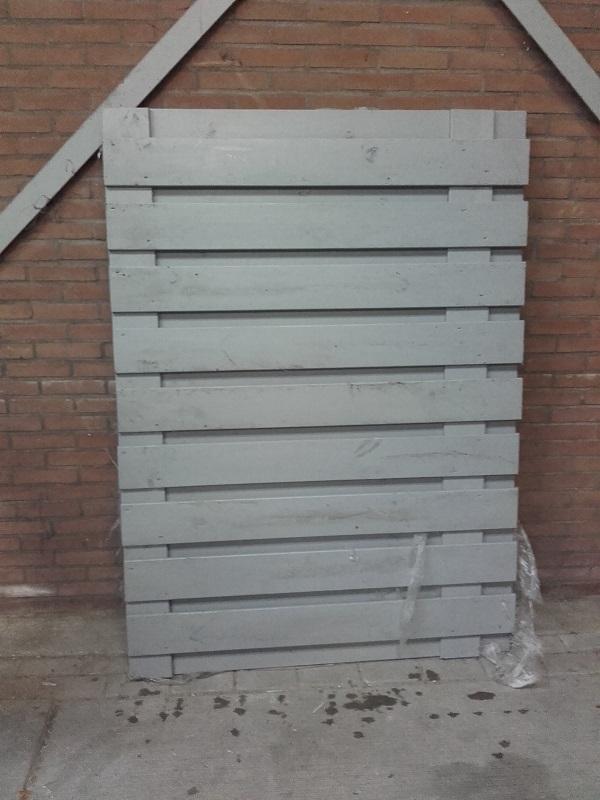 Tuinscherm grijs geverfd 130x180 cm NR890