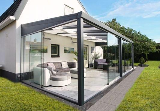 Glastuinkamer 700x300 cm op 3 staanders