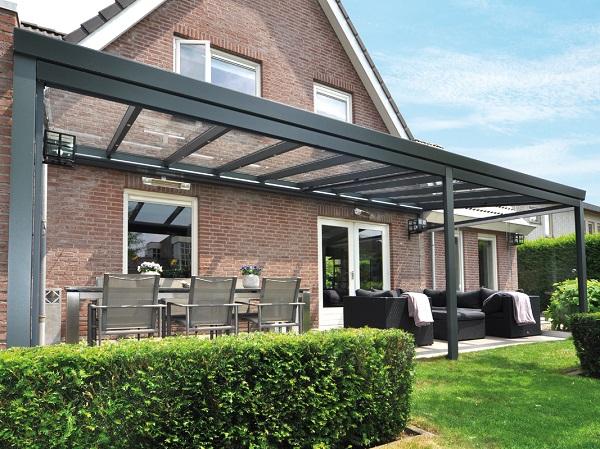 Profiline XXL veranda 1400x250 cm - polycarbonaat dak