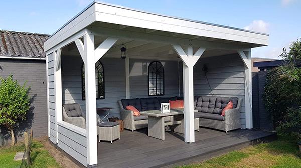 Buitenverblijven met plat dak