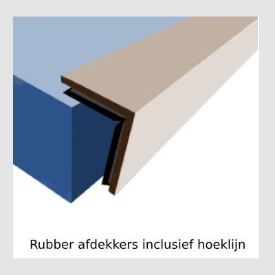 Rubber afdekkers inclusief hoeklijn