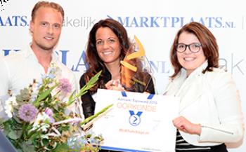 Van Kooten Tuin & Buiten Leven wint Gouden Admarkt Topaward van Marktplaats