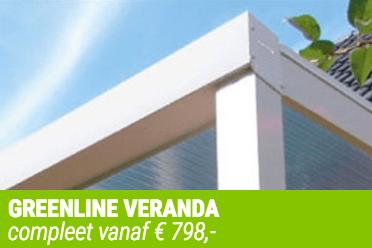 Verandavillage levert Verasol Greenline Veranda's