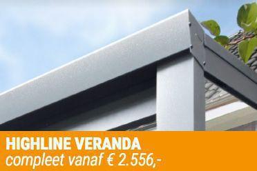 Verandavillage levert Verasol Highline Veranda's