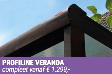 Verandavillage levert Verasol Profiline Veranda's