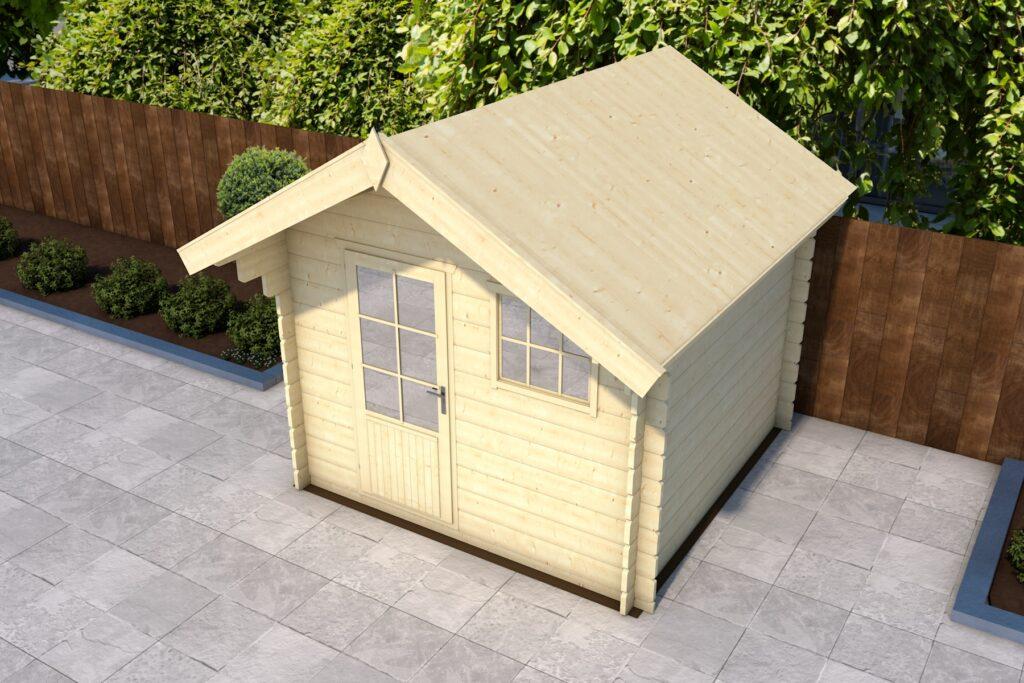 De regel is op de kopse kant van het dak gemonteerd.