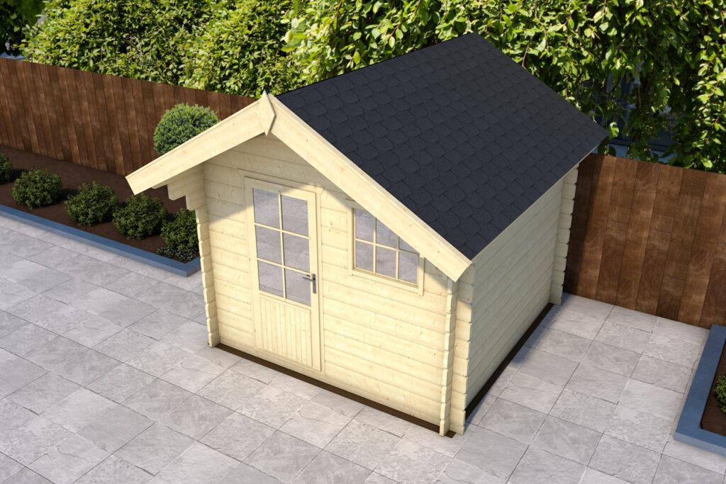 De dakshingles zijn op het dak geplaatst zodat het waterdicht is.