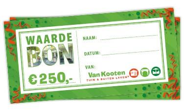 Prijs van de fotowedstrijd: waardebon van 250 euro voor Van Kooten Tuin & Buiten Leven